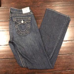 True Religion Becky Dk Wash Thick Stitch Jeans 29